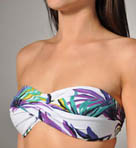 Starlight Palm Twist Bandeau Foam Cup Swim Top