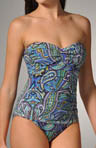 Seville Paisley Shirred One Piece Swimsuit