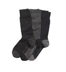 Heel/Toe Flat Knit Crew Socks - 3 Pack