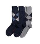 Argyle Crew Socks -3 Pack