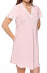 Microfibre Crepe With Lace Sleepshirt