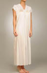 Cap Sleeve Lace Trim Gown