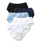 True Comfort 100% Cotton Hipster Panties - 5 Pack