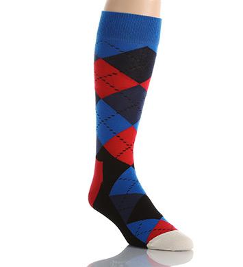 Happy Socks Combed Cotton Argyle Crew Sock