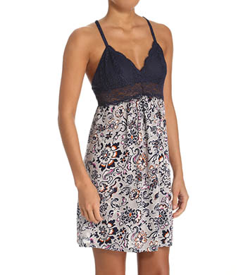 Josie by Natori Maden Floral Racerback Chemise with Lace