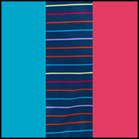 Beet/Stripe/Caribbean
