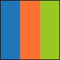 Blue/Red Orange/Lime