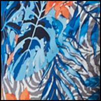 Floral Zebra Blue