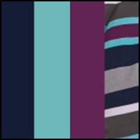 Navy/Char/Stripe/Blue