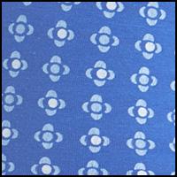 Zig Zag Dots Blue
