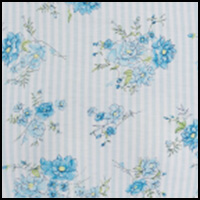 Blue Floral Stripe