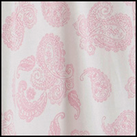 Ivory/Pink Paisley