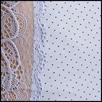 Peri Blue Dot w/Lace