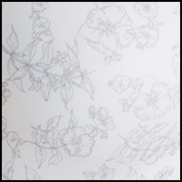 WhiteOutlineFlorlPrint
