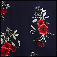 Navy/Red Floral