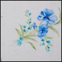 White Aqua Floral