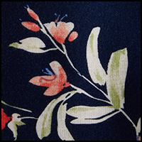 Catherine Floral Navy