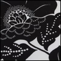 Black Flower Print
