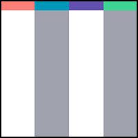 White/Grey Stripe