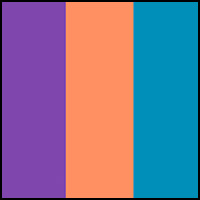 Turq/Purple/Orange