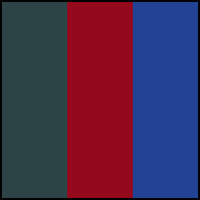 Spruce/Red Dahlia/Blue