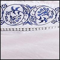 White w/Navy Embroider