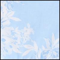 Blue Grnd/White Floral