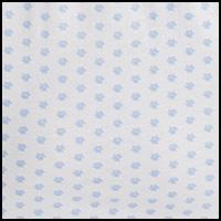 White Ground Blue Geo