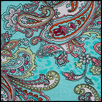 Turquoise Paisley