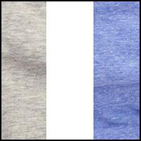 Grey/White/Blue Gem