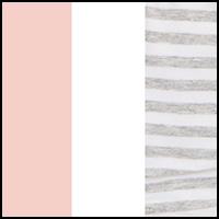 Stripe/White/Blush
