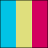 Yellow/Pink/Aqua