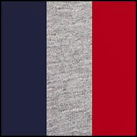 Navy/Grey Melange/Red