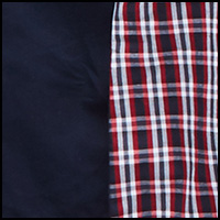 Red Plaid/Navy