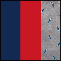 Blue/Print/Grey