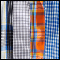 Blue/Orange/Grey Plaid