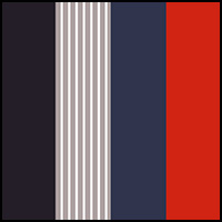 Blue/Red/Grey Stripe