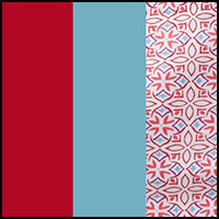 Festive Geo/Blue/Red