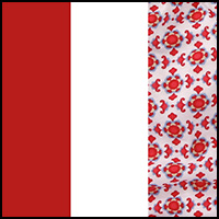Red/FloralMosaic/White