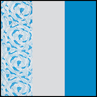 WHT/Swirly Scroll/Blue