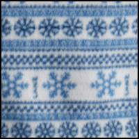 White W/Blue Snowflake