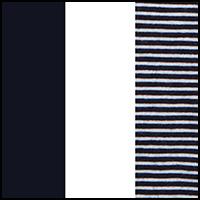 Navy Blue/White