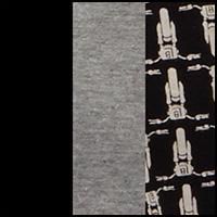 Jet Black/Print/Grey