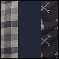 Plaid/Indigo/Ombre