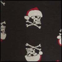 Santa Skull/Jet Black