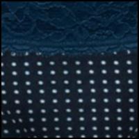 Navy/White Dot Print