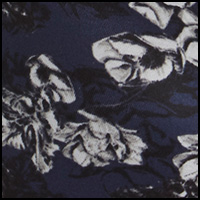 Black/Navy Blossoms
