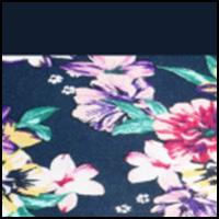Dahlia Floral-Navy