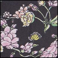 Floral Trellis Black