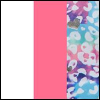 Dye Hearts/White/Pink